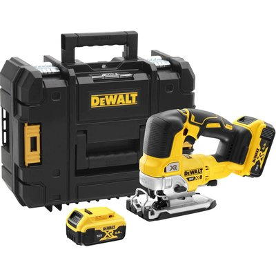 DeWalt DCS334 18v XR Cordless Brushless Jigsaw 2 x 5ah Li-ion Charger Case