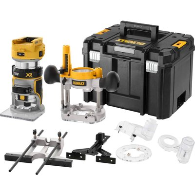 """DeWalt DCW604NT 18v XR Cordless Brushless 1/4"""" Router Kit No Batteries No Charger Case & Accessories"""