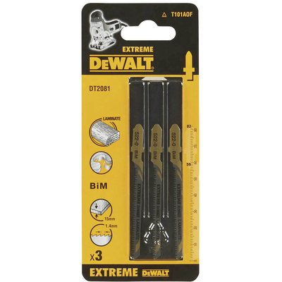 DeWalt T101AOF HCS Wood Cutting Jigsaw Blades Pack of 3
