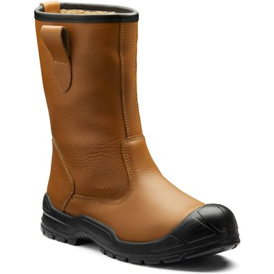 Dickies Mens Dixon Lined Safety Rigger Boots Tan
