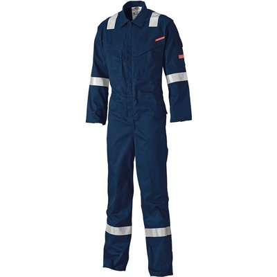 Dickies Mens Lightweight Pyrovatex Flame Retardant Overall Navy Blue 60 33