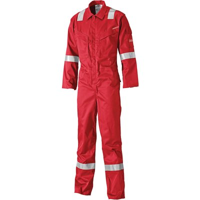Dickies Mens Lightweight Pyrovatex Flame Retardant Overall Red 44 33