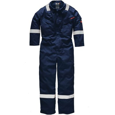 Dickies Mens Pyrovatex Flame Retardant Overall Navy Blue 58 33