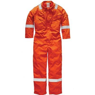 Dickies Mens Pyrovatex Flame Retardant Overall Orange 46 33
