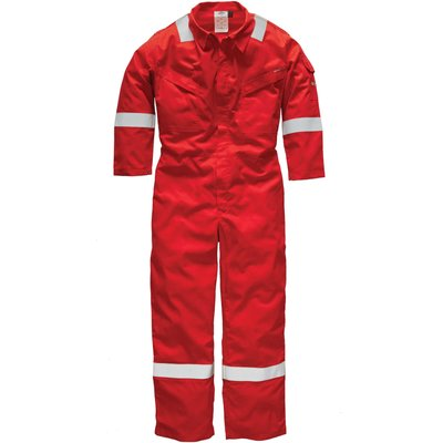 Dickies Mens Pyrovatex Flame Retardant Overall Red 38 33