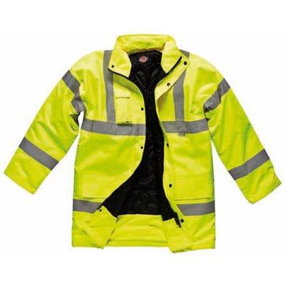 Dickies Mens Hi Vis Motorway Safety Jacket Orange L