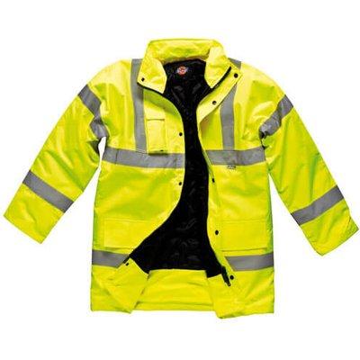 Dickies Mens Hi Vis Motorway Safety Jacket Yellow XL