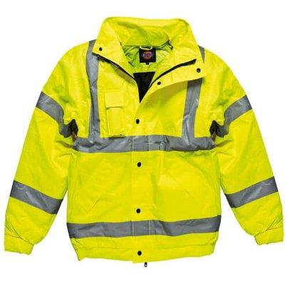Dickies Mens Hi Vis Bomber Jacket Yellow M
