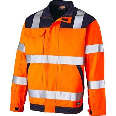Dickies Everyday Hi Vis Jacket Orange / Navy S