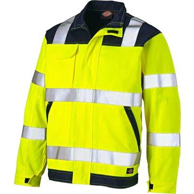 Dickies Everyday Hi Vis Jacket Yellow / Navy S