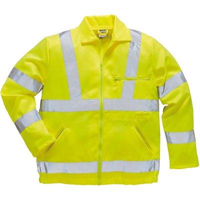 Portwest Class 3 Hi Vis Polycotton Jacket Yellow L