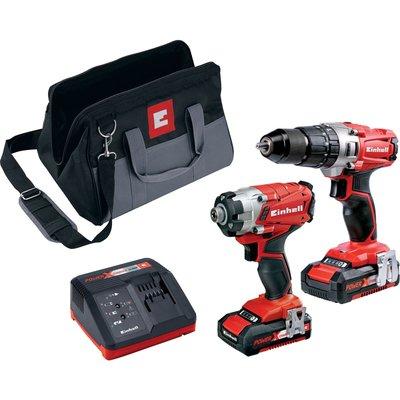 Einhell Power X Change 18v Cordless Combi Drill & Drill Driver Kit 2 x 2ah Li-ion Charger Bag