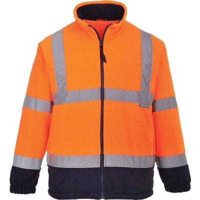 Portwest 2 Tone Hi Vis Fleece Jacket Orange / Navy S