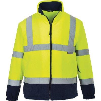 Portwest 2 Tone Hi Vis Fleece Jacket Yellow / Navy XS