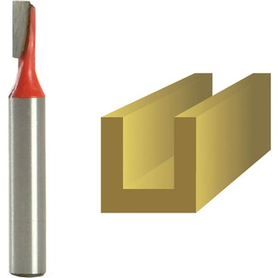 """Faithfull Two Flute Straight Router Cutter 4mm 11mm 1/4"""""""