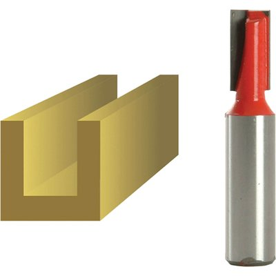 """Faithfull Two Flute Straight Router Cutter 10mm 19mm 1/2"""""""