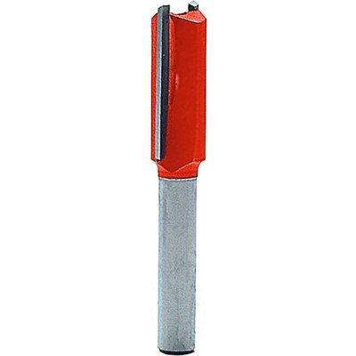 """Faithfull Two Flute Straight Router Cutter 11mm 25mm 1/4"""""""