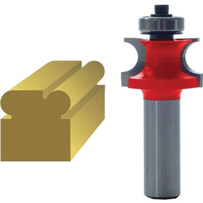 "Faithfull Corner bead 3.2mm Radius Router Cutter 22mm 3.2mm 1/4"""