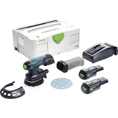 Festool ETSC 125 18v Cordless Eccentric Sander 125mm 2 x 3.1ah Li-ion Charger Case