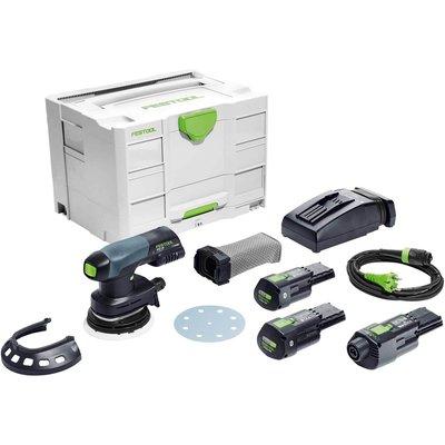 Festool ETSC 125 18v Cordless Eccentric Sander 125mm 2 x 3.1ah Li-ion Charger Case & Accessories