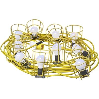 Faithfull Festoon Lights 22 Metres with 10 Lamps 110v - 5023969313443