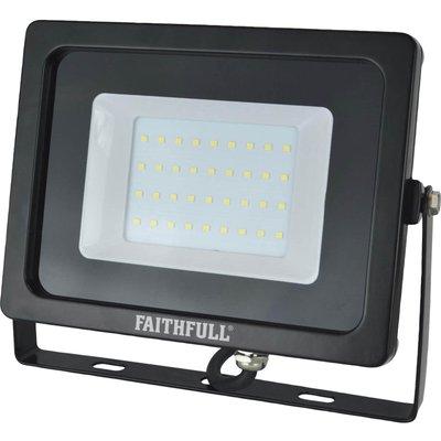 Faithfull Smd LED Wall Mounted Floodlight 2400 Lumens 240v - 5023969315416
