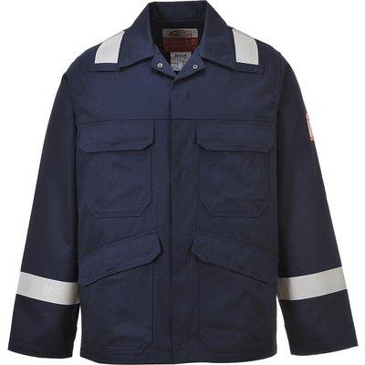 Biz Flame Mens Flame Resistant Jacket Navy S