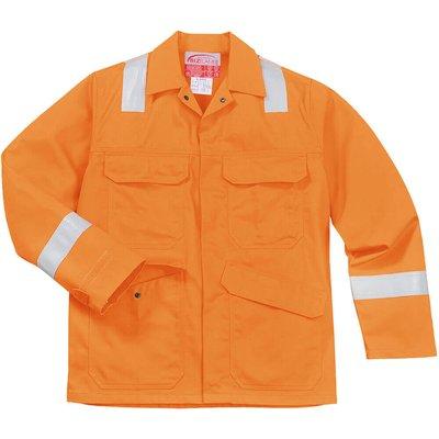 Biz Flame Mens Flame Resistant Jacket Orange 4XL