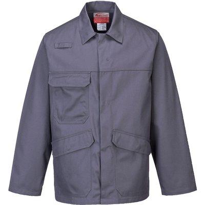 Biz Flame Pro Mens Flame Resistant Jacket Grey XL