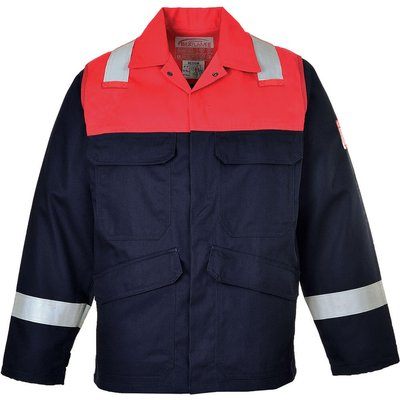 Biz Flame Mens Flame Resistant Plus Jacket Navy L