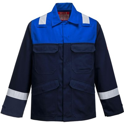 Biz Flame Mens Flame Resistant Plus Jacket Navy / Royal Blue XL