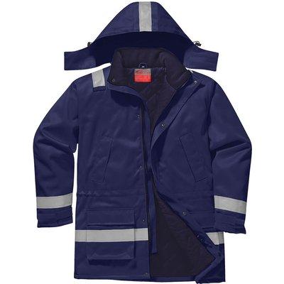 Biz Flame Mens Flame Resistant Antistatic Winter Jacket Navy L