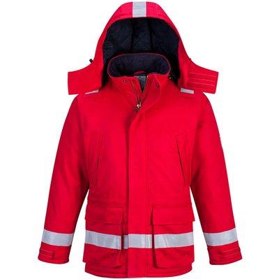 Biz Flame Mens Flame Resistant Antistatic Winter Jacket Red L