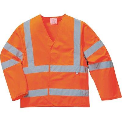 Biz Flame Hi Vis Flame Resistant Jacket Orange 2XL / 3XL