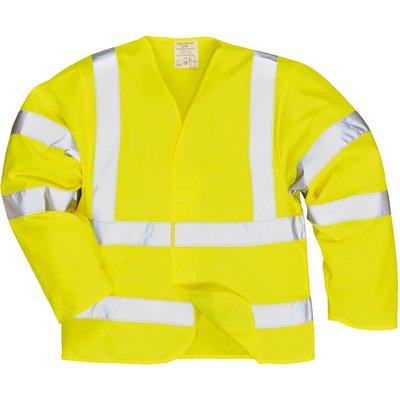 Biz Flame Hi Vis Flame Resistant Jacket Yellow 2XL / 3XL
