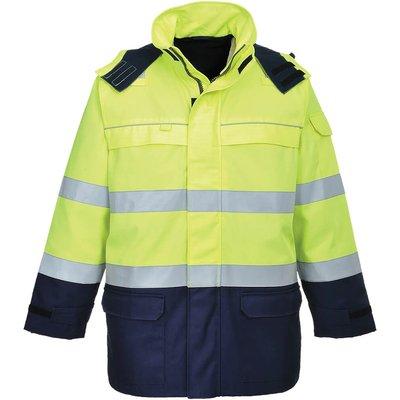 Biz Flame Hi Vis Flame Resistant Multi Arc Jacket Yellow / Navy M