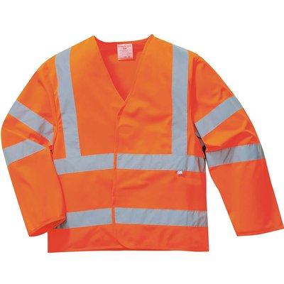Biz Flame Class 3 Hi Vis Anti Static Flame Resistant Jacket Orange S / M