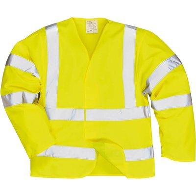 Biz Flame Class 3 Hi Vis Anti Static Flame Resistant Jacket Yellow L / XL