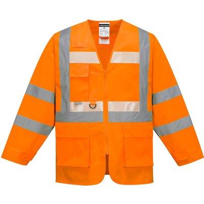 Glowtex Ezee Zip Front Executive Hi Vis Jacket Orange L