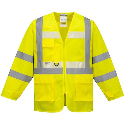 Glowtex Ezee Zip Front Executive Hi Vis Jacket Yellow L