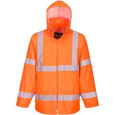 Portwest Hi Vis Rain Jacket Orange 2XL