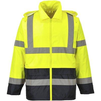 Classic Hi Vis Contrast Rain Jacket Yellow / Black 2XL