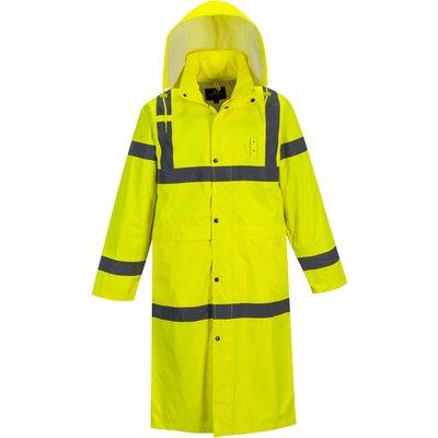 Portwest Long Length Hi Vis Coat Yellow 5XL