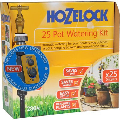Hozelock CLASSIC MICRO 25 Pot Garden Watering System and Sensor Timer