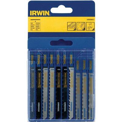 Irwin 10 Piece Assorted T Shank Jigsaw Blade Set