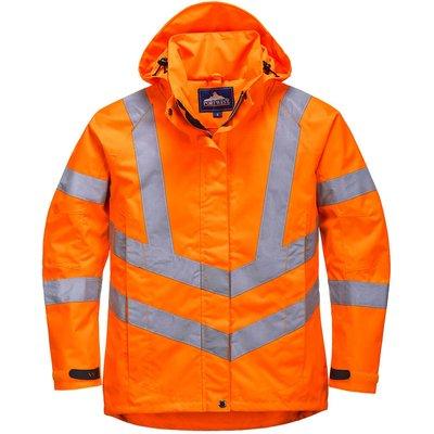 Oxford Weave 300D Ladies Class 3 Hi Vis Jacket Orange L