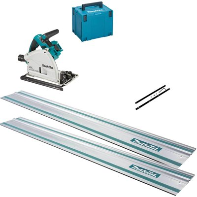 Makita DSP600ZJ Twin 18v LXT Cordless Brushless Plunge Saw 3 Piece Kit No Batteries No Charger Case & Accessories
