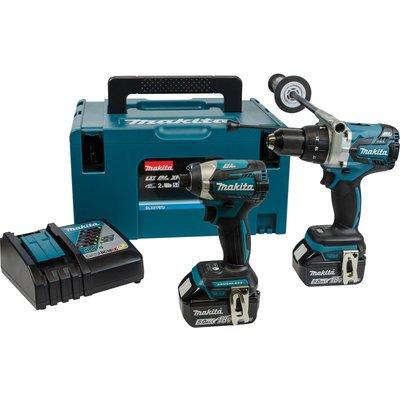 Makita DLX2176TJ18v Cordless LXT Brushless Combi Drill and Impact Driver Kit 2 x 5ah Li-ion Charger Case