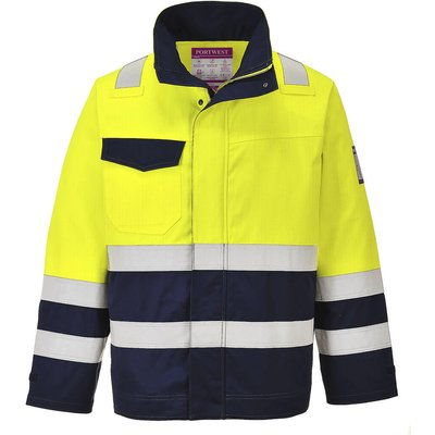 Modaflame Flame Resistant Hi Vis Jacket Yellow / Navy L