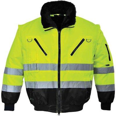 Portwest Hi Vis 3 in 1 Pilot Jacket Yellow / Black L